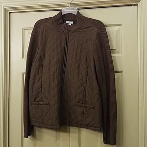 Croft & Barrow plus size zippered cardigan
